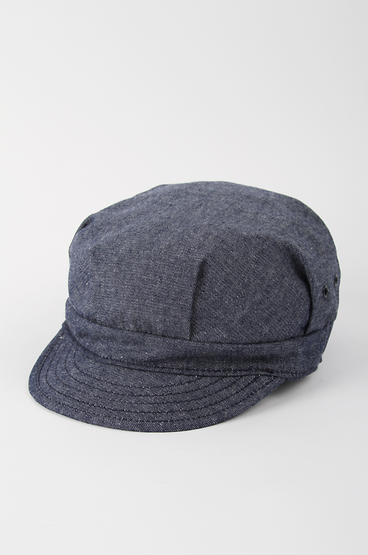 NEWYORK HAT Chambray Engineer Cap Navy