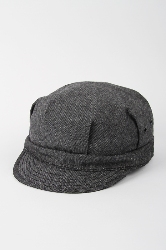 NEWYORK HAT Chambray Engineer Cap Blk