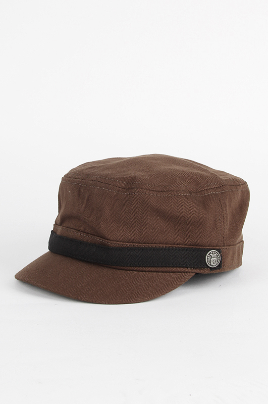 BRIXTON Busker Brown Herringbone Twill