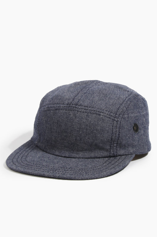 NEWYORK HAT Chambray 5-Panel Cap Navy