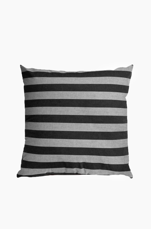 SEPTEMBER ROOM Charcoal Stripe Cushion