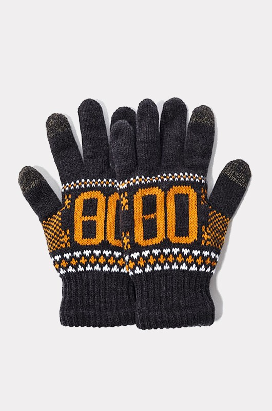 CRITIC80Knit Glove Chacoal
