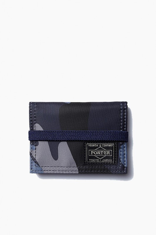 PORTER Band Card Case Blue Camo