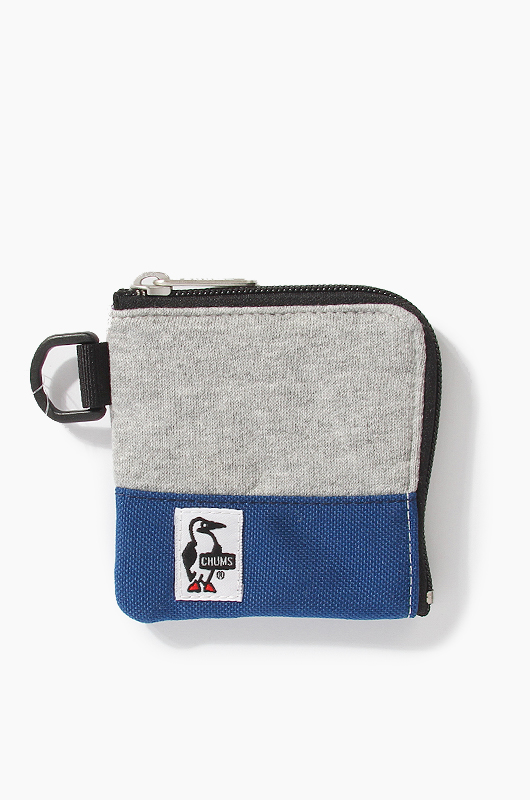 CHUMS Square Coin Wallet H.Grey/Navy