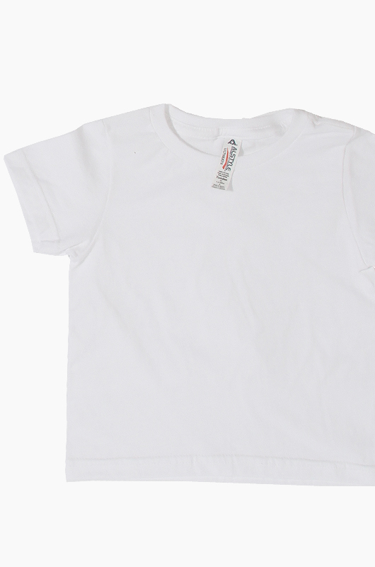 AAA Toddler Tee White