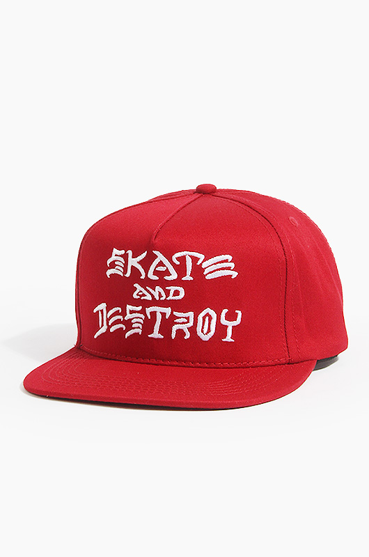 THRASHER Sad Embroidered Snapback Red