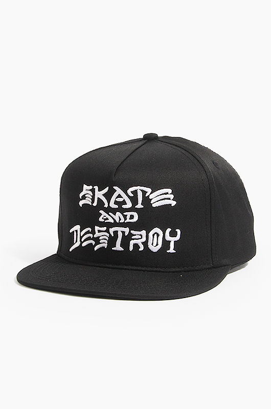 THRASHER Sad Embroidered Snapback Black