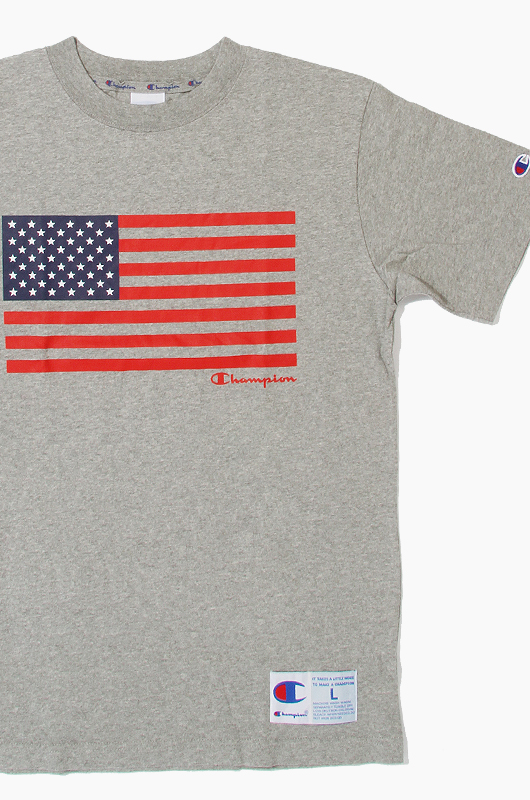 CHAMPION (JAPAN) US Flag S/S(C3-F303) Grey