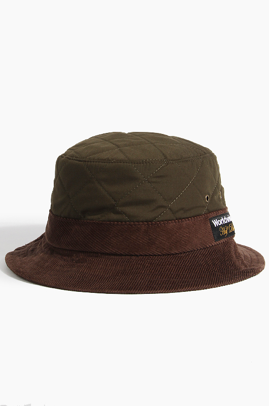 HUFQuilted Bucket Olive
