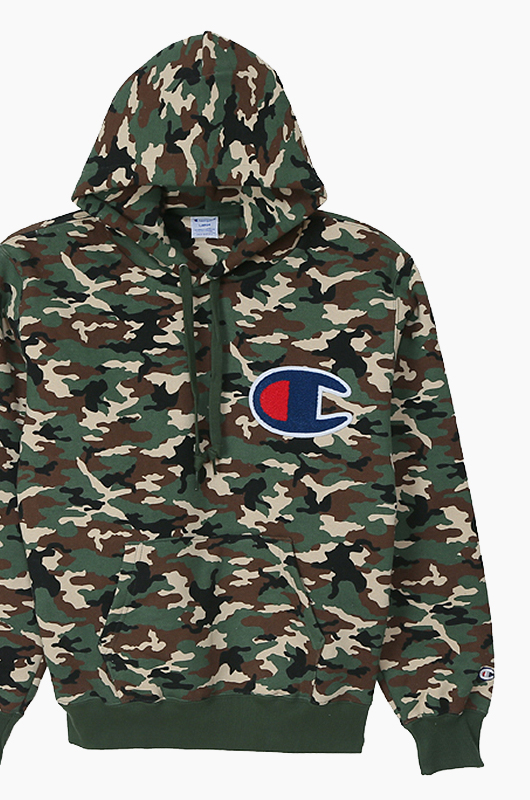 CHAMPION (JAPAN) Big Logo Hoodie(C3-G123) Army Green