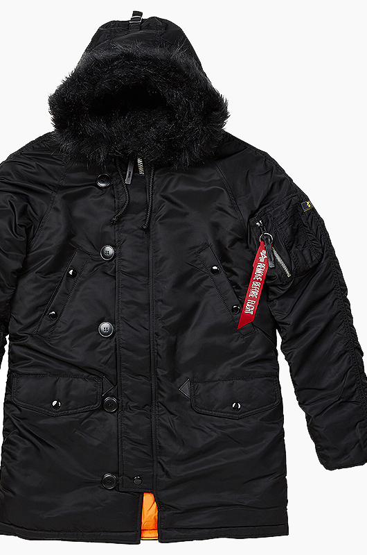ALPHA INDUSTRIES Slim Fit N-3B JKT Black/Orange
