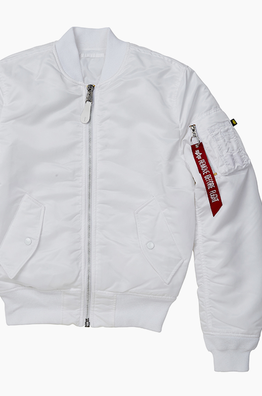 ALPHA INDUSTRIES Slim Fit MA-1 Jacket White