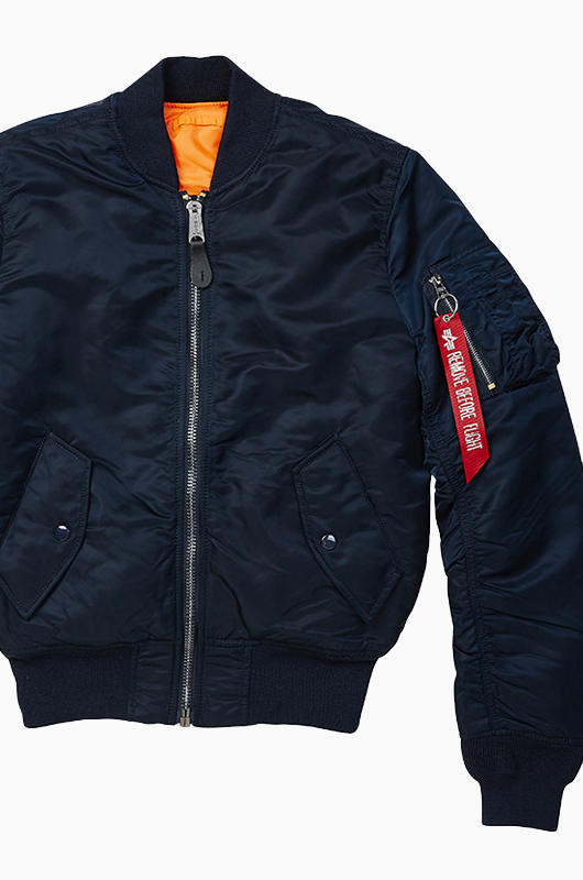 ALPHA INDUSTRIES Slim Fit MA-1 Jacket R.Blue