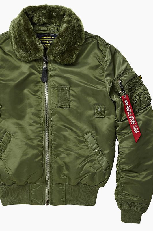 ALPHA INDUSTRIES B-15 Slim Fit Jacket Sage