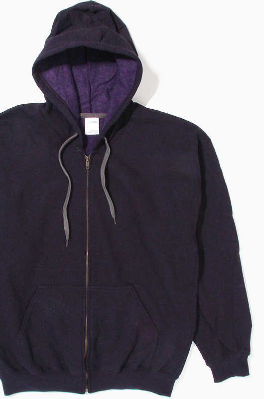 GILDANHood Zip-Up Blackberry