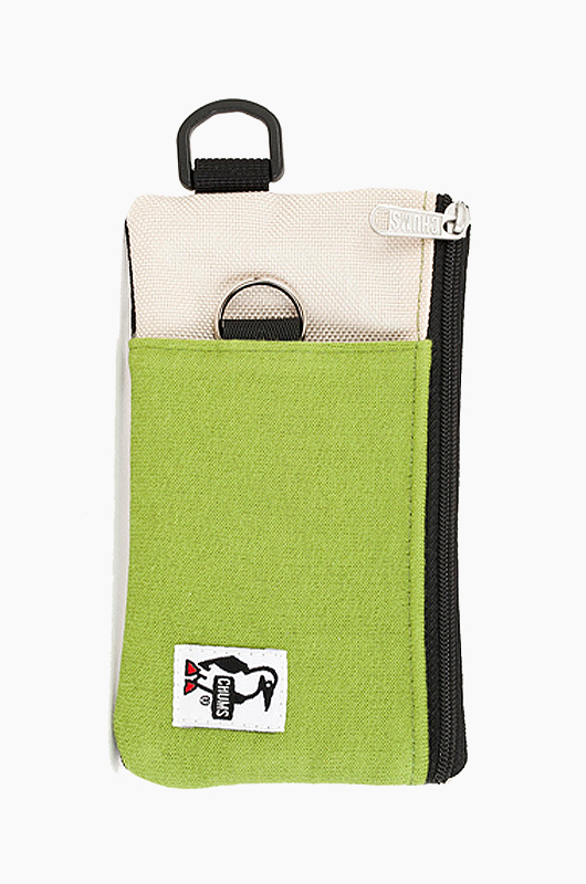 CHUMS Mobile Card Case Green Ecru