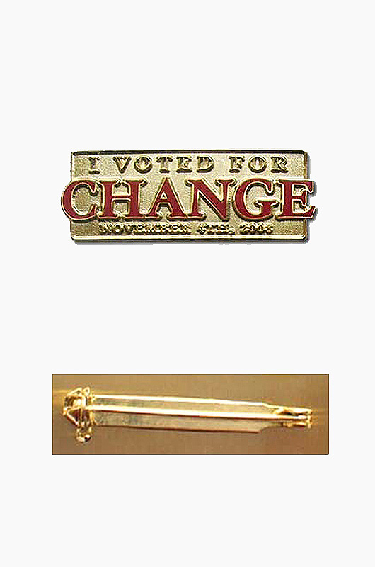 AMERICA ACC I voted for Change Pin