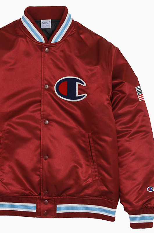 CHAMPION (JAPAN) Baseball Jacket(C3-G612) Maroon