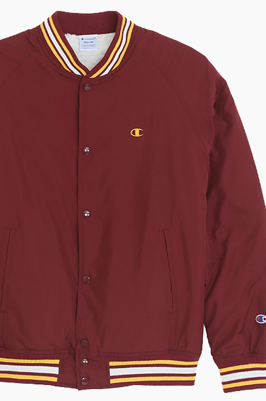 CHAMPION (JAPAN) Snap Jacket(C3-G610) Maroon