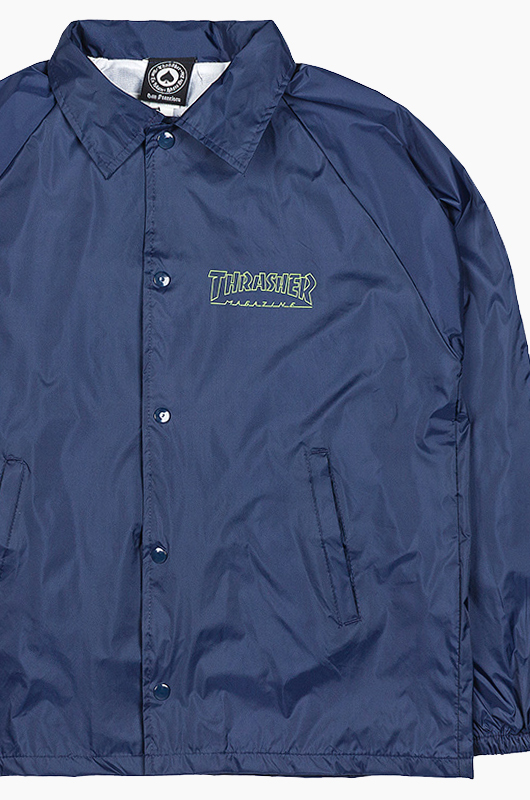 THRASHER Circuit Goat Coach Jacket Navy