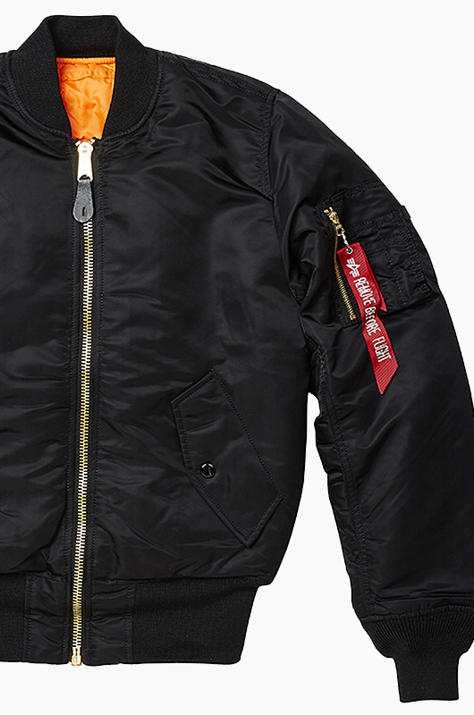 ALPHA INDUSTRIES MA-1 Flight Jacket Black