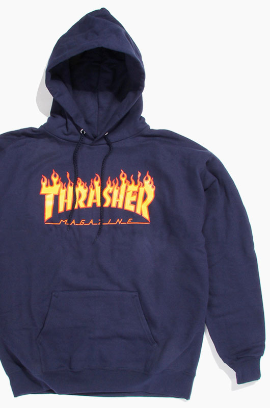 THRASHER Flame Hood Navy