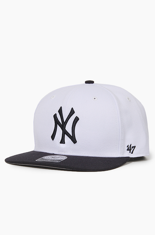 47BRAND MLB Sure Shot Snapback Yankees(White/Black)