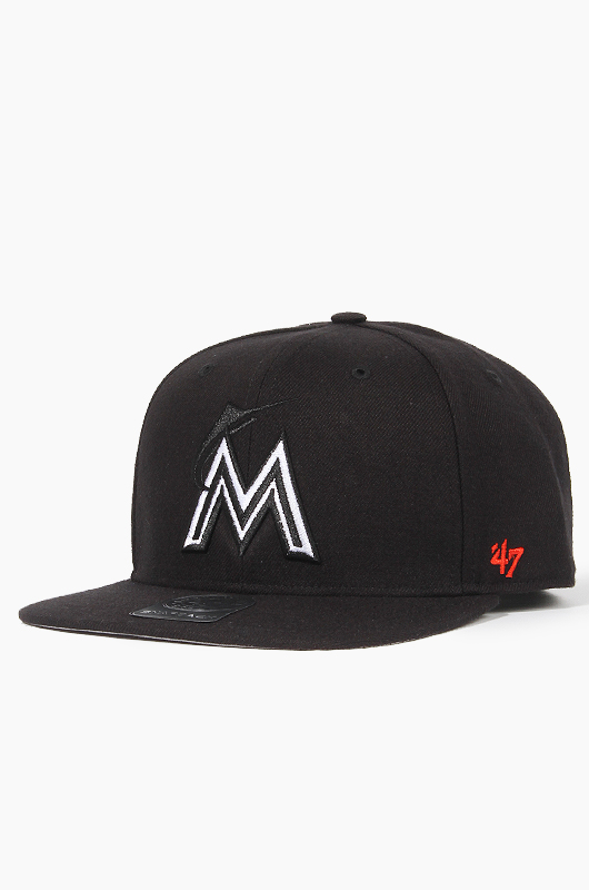 47BRAND MLB Sure Shot Snapback Marlins(Black)