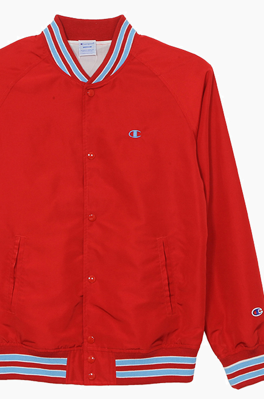 CHAMPION (JAPAN) Snap Jacket(C3-H604) Red