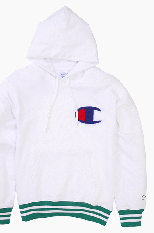 CHAMPION (JAPAN) Big Logo Hoodie(C3-H108) White