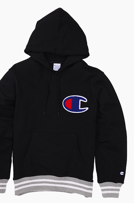 CHAMPION (JAPAN) Big Logo Hoodie(C3-H108) Black