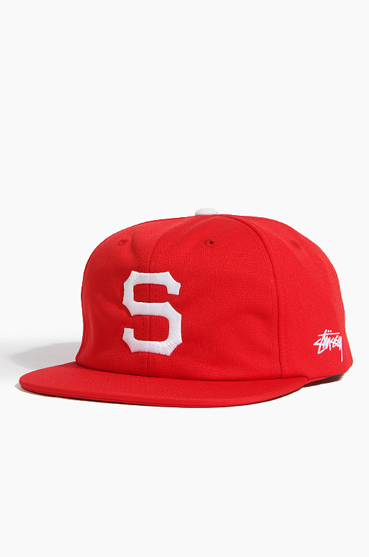 STUSSY Old S Snapback Red