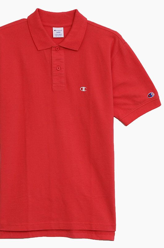 CHAMPION (JAPAN) Polo Shirt (C3-F356) Red
