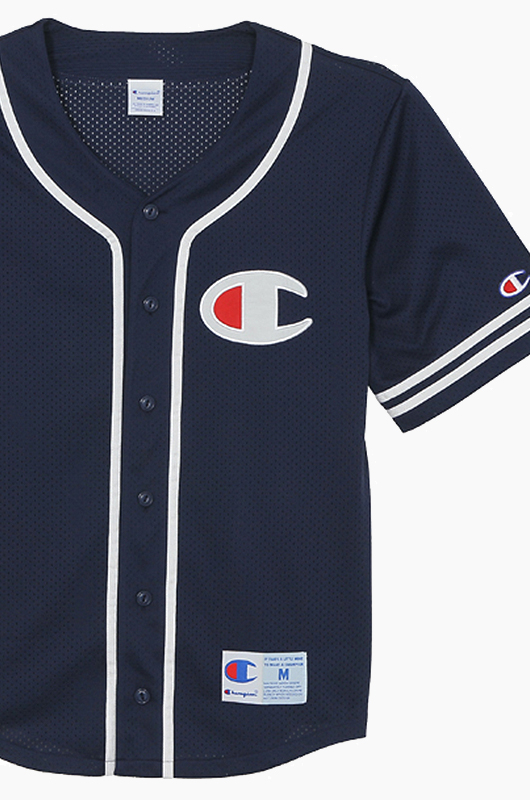 CHAMPION (JAPAN) Baseball Jersey (C3-H365) Navy