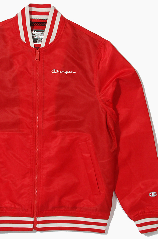 CHAMPION Satin Jacket Red