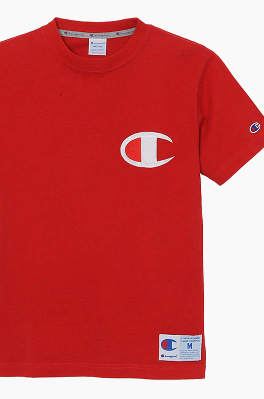 CHAMPION (JAPAN) Big Logo S/S(C3-F362) Red