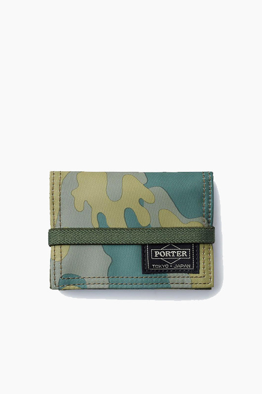 PORTER Band Card Case Jungle Camo