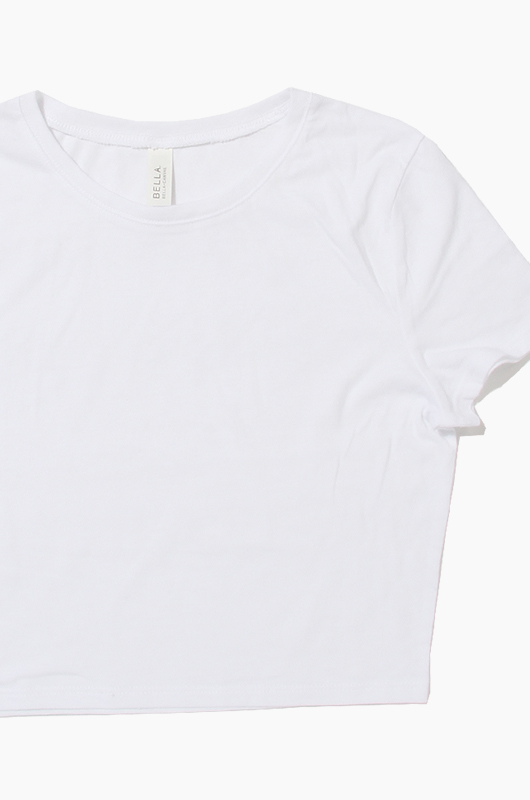 BELLA WOMEN CROP TEE  White