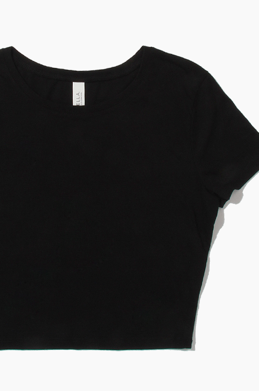 BELLA WOMEN CROP TEE Black