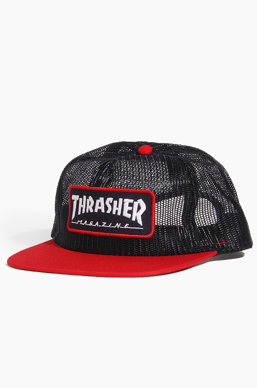 THRASHER Magazine Logo Mesh Cap Blue/Red