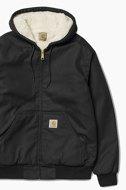 CARHARTT-WIPActive Jacket Pile Lined Black/White