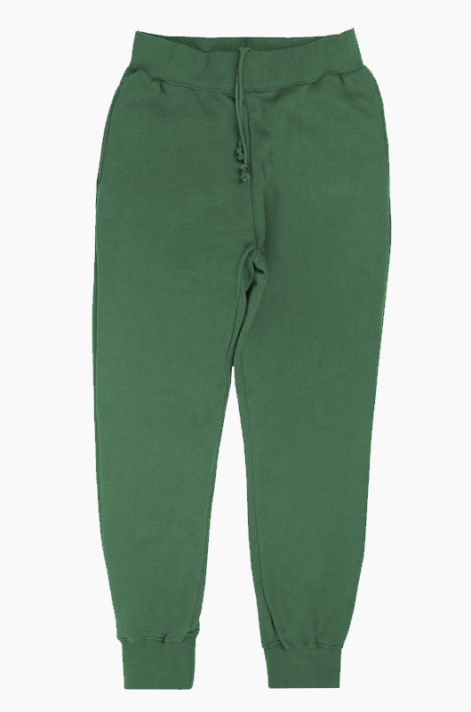 STUSSY Embossed App Fleece Pants Pine