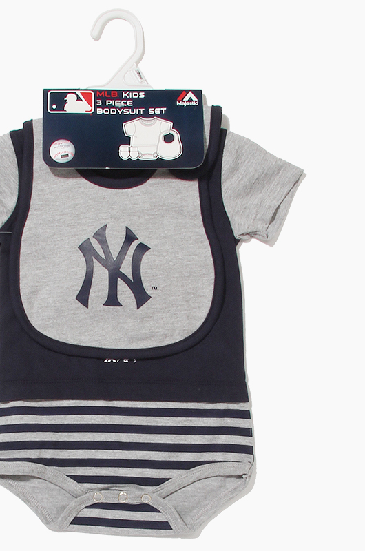 MLB 3Piece Bodysuit Set Yankees