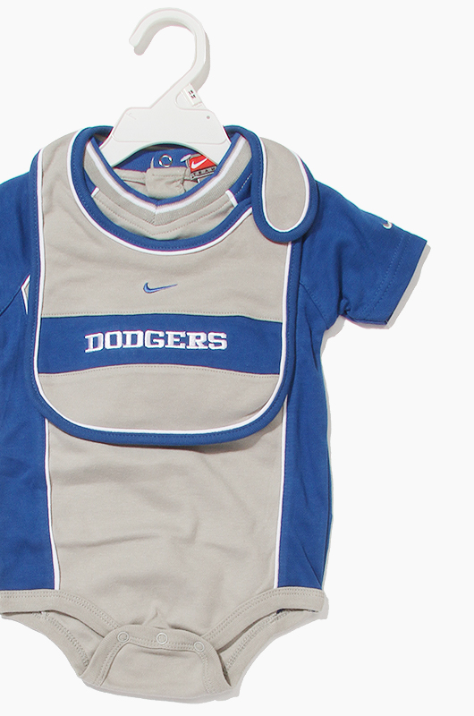 MLB Nike 3Piece Bodysuit Set Dodgers