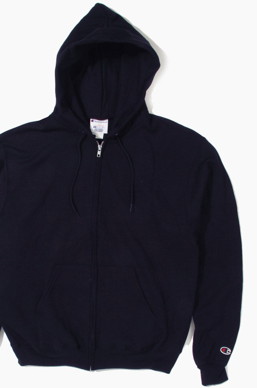 CHAMPION 50/50 Full-Zip Hoodie Navy