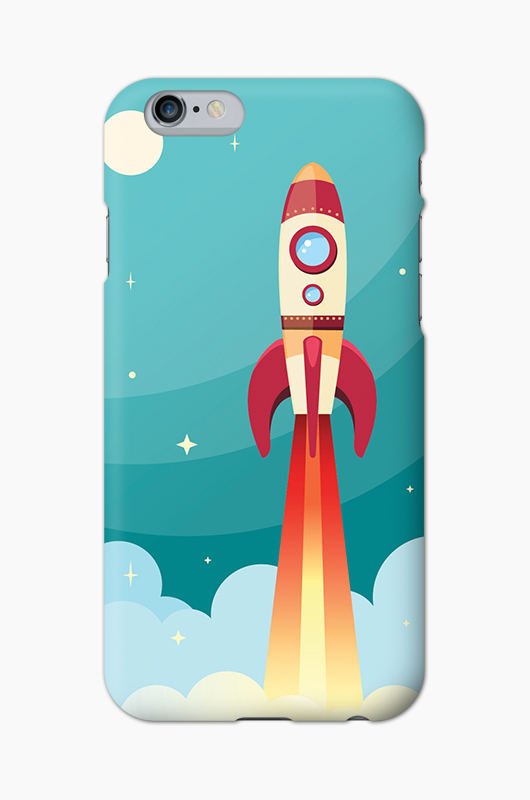 CHILLN Graphic Case Space Rocket
