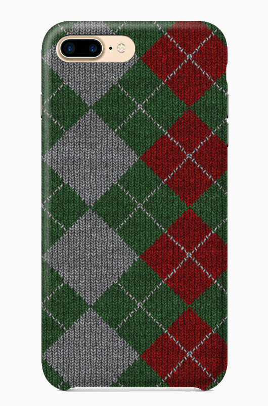 CHILLN Graphic Case Knit Green/Red