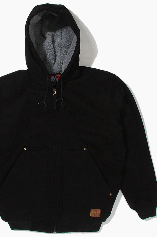BENDAVIS Sherpa Hooded Jacket Black