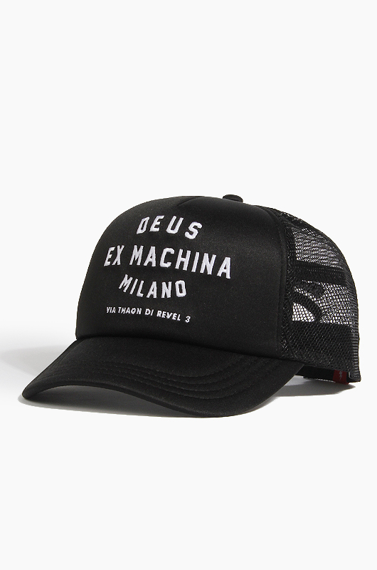 DEUS Milano Address Trucker Cap Black