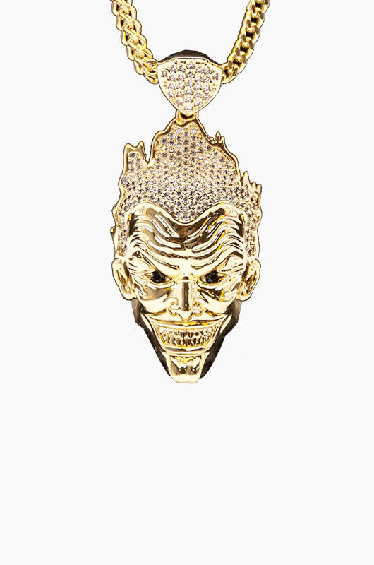 KING ICE Joker Necklace From Batman